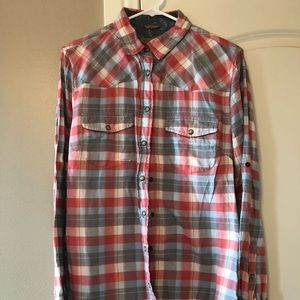 Jach's Girlfriend Flannel with Roll-Up Sleeve